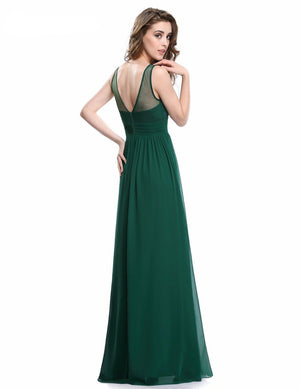 Sleeveless Beadings Evening Dresses