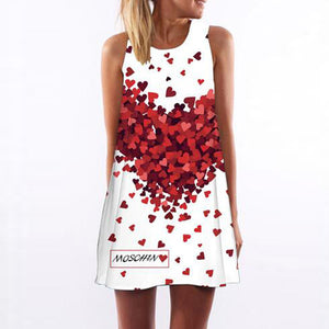 Women Floral Print Summer Dress