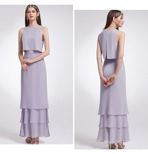 Two-piece Crop-top Bridesmaid Dresses
