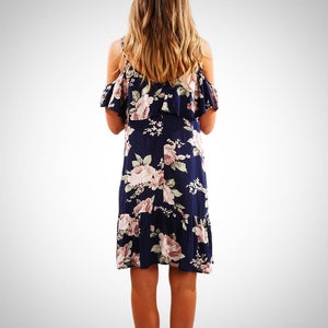 Summer Floral Ruffles Dress
