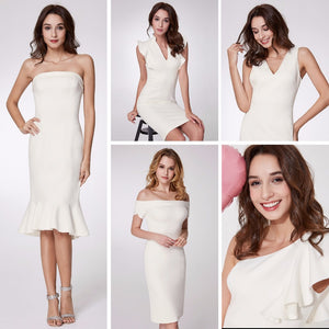 Slit Ruffles Cocktail Dresses