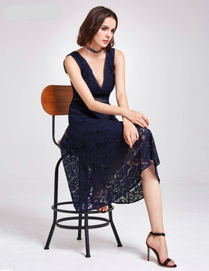 Tea Length Lace Cocktail Dresses