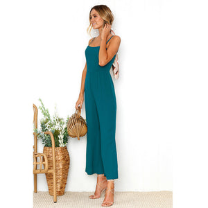 Spaghetti Strap Crop Length Jumpsuit