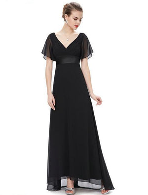 Trailing Flutter Sleeve Long Women Gown