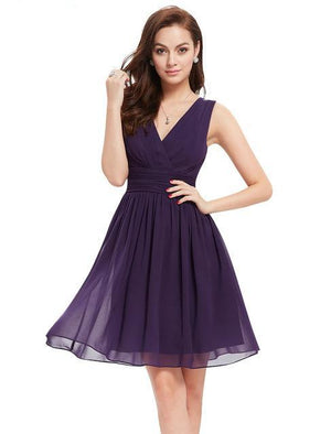 Double V-neck Bridesmaid Dresses