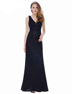 Elegant V neck Sleeveless Evening Dresses