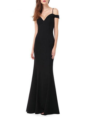 Sexy Sleeveless Black Long Evening Gowns