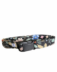 "Large Buckle Collar 1"" Width- Strawberry Field"