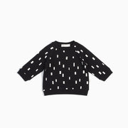 Crew Neck Sweater - Black Play Blocks