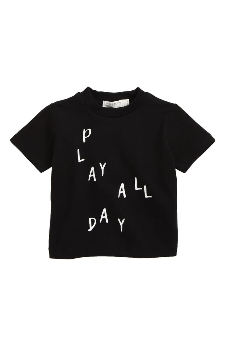 Play All Day T-Shirt - Black
