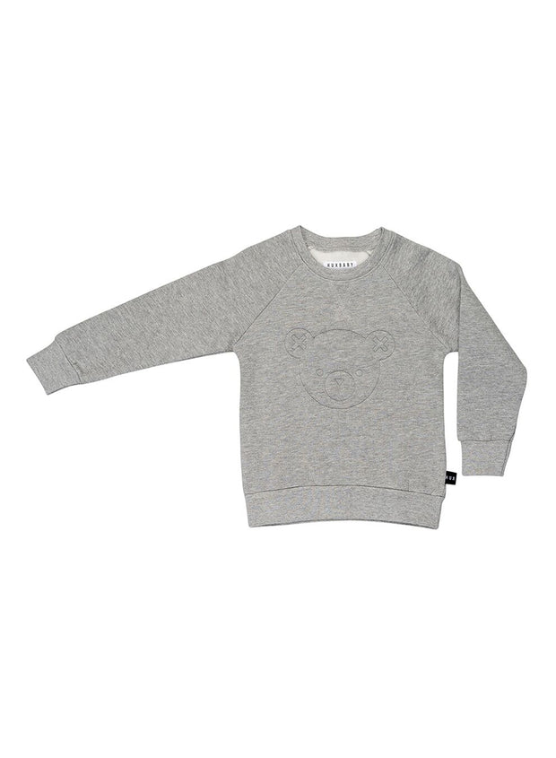 HuxBear Fleece Sweatshirt - Heather Grey