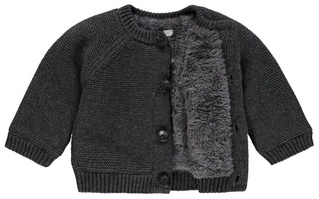 Fleece Cardigan - Dark Grey