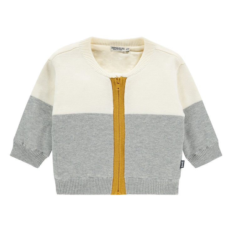 Knit Cardigan - Gray Melange