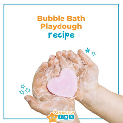 Bubble Bath Playdough Recipe | Curiosity Box Kids