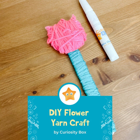 DIY Flower Yarn Craft | Curiosity Box Kids