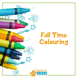 Fall Time Colouring | Curiosity Box Kids