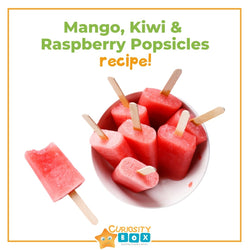 Frozen Mango, Kiwi and Raspberry Pops! | Curiosity Box Kids