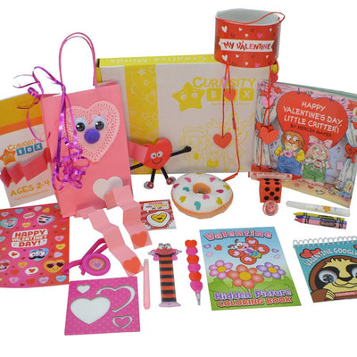 A Little Valentine Love for Ages 2-4- Curiosity-Box-Craft-and-Educational-Boxes-Kids-Monthly-Subscription-Box