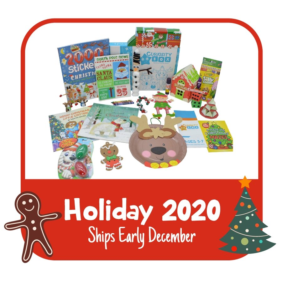 At Home for the Holidays Kids Craft and Educational Box for ages 2-6 or ages 6-12- Curiosity-Box-Craft-and-Educational-Boxes-Kids-Monthly-Subscription-Box