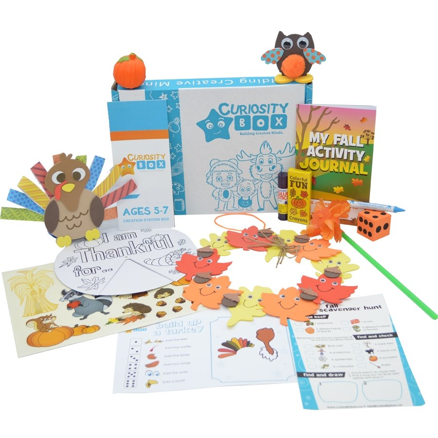 Autumn Harvest Craft Box Ages 5-7- Curiosity-Box-Craft-and-Educational-Boxes-Kids-Monthly-Subscription-Box