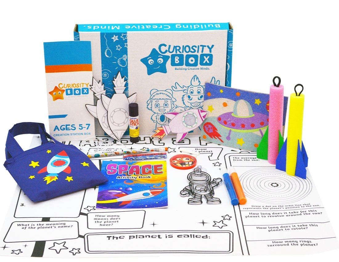 Blast Off Craft Box for Ages 5-7- Curiosity-Box-Craft-and-Educational-Boxes-Kids-Monthly-Subscription-Box