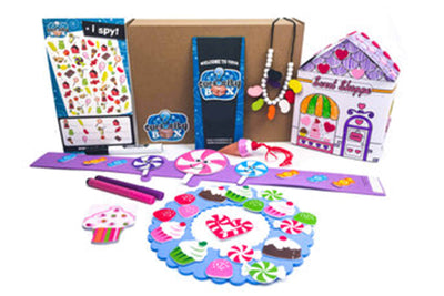 Candy Land Craft Box for Ages 5-7- Curiosity-Box-Craft-and-Educational-Boxes-Kids-Monthly-Subscription-Box