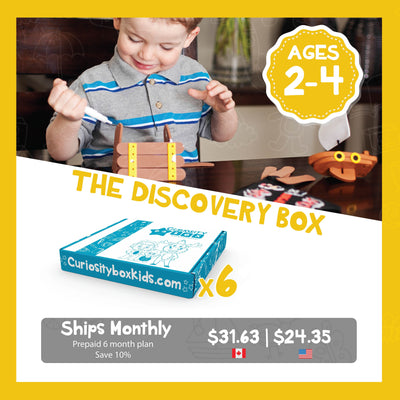 Discovery Box Monthly Subscription Plans for Ages 2-4- Curiosity-Box-Craft-and-Educational-Boxes-Kids-Monthly-Subscription-Box