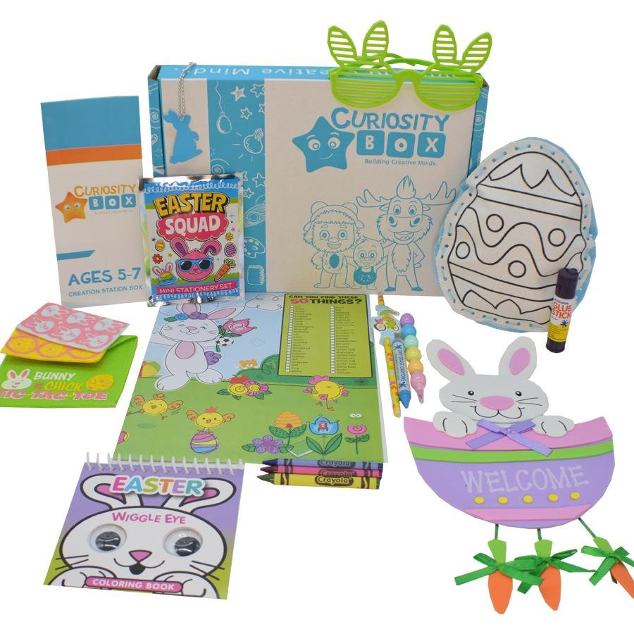 Easter Times Craft Box for Ages 5-7 - Curiosity Box Kids - Monthly Kids Subscription Box
