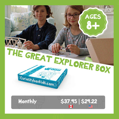 Great Explorer Box Monthly Subscription Plans for Ages 8+- Curiosity-Box-Craft-and-Educational-Boxes-Kids-Monthly-Subscription-Box