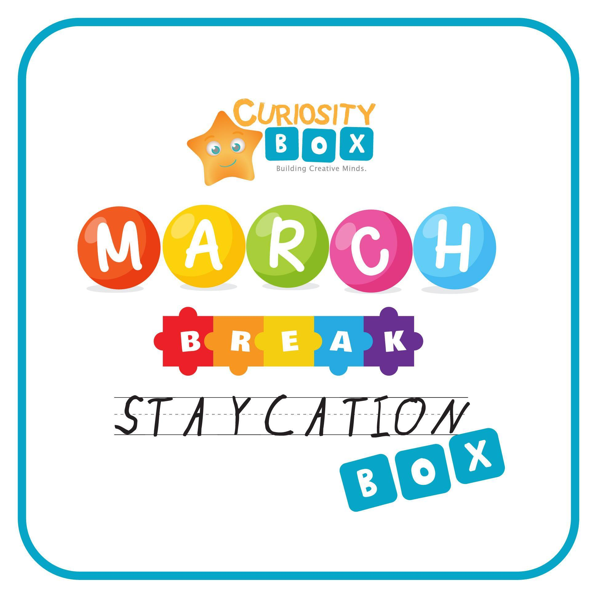 March Break Staycation Box Ages 5-7- Curiosity-Box-Craft-and-Educational-Boxes-Kids-Monthly-Subscription-Box