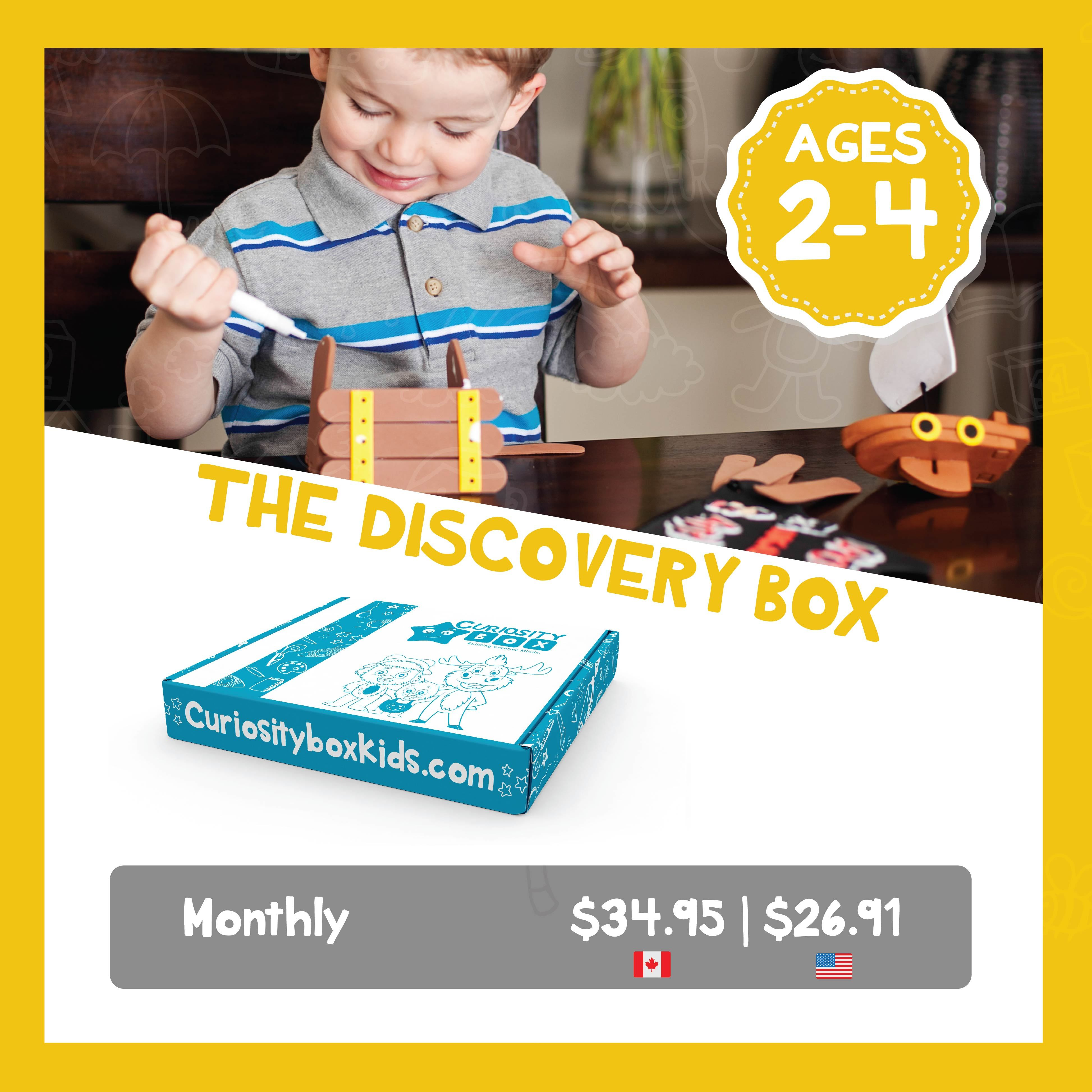 Monthly The Discovery Box for Ages 2-4- Curiosity-Box-Craft-and-Educational-Boxes-Kids-Monthly-Subscription-Box
