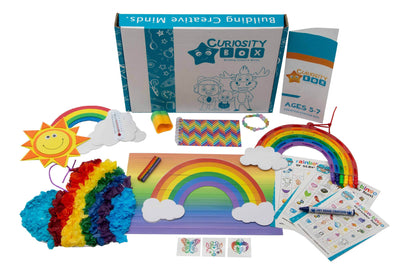 Rainbows Galore Craft Box for Ages 5-7- Curiosity-Box-Craft-and-Educational-Boxes-Kids-Monthly-Subscription-Box