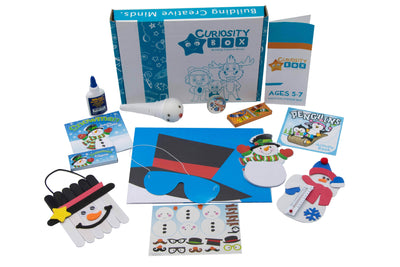 Snow Fun Craft Box Ages 5-7- Curiosity-Box-Craft-and-Educational-Boxes-Kids-Monthly-Subscription-Box