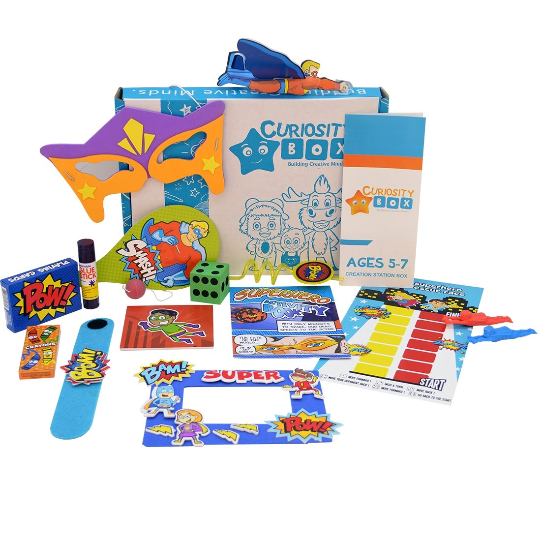 Superhero Powers Craft Box for Ages 5-7- Curiosity-Box-Craft-and-Educational-Boxes-Kids-Monthly-Subscription-Box