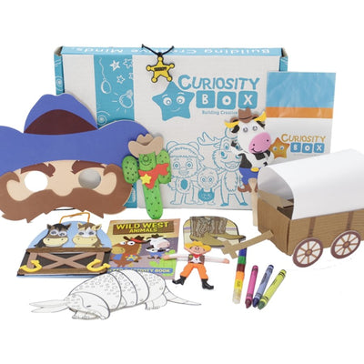 Wild Wild West Craft Box Ages 5-7- Curiosity-Box-Craft-and-Educational-Boxes-Kids-Monthly-Subscription-Box