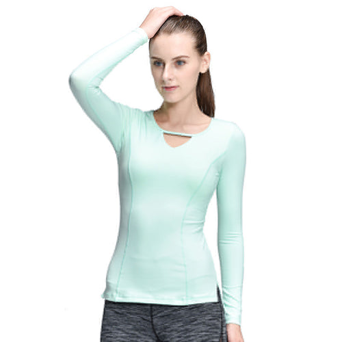 Women Yoga Sport T-Shirt Long Sleeve Yoga Tops Tights Running Mujer Deportivas Woman FitnessT-Shirt Running Women Clothes