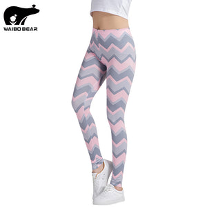 Striped Printed Crossfit Bodybuilding Compression Tights