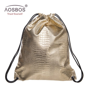 Glossy Leather Sports Backpack