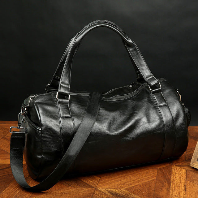Casual Leather Gym Bag