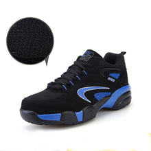 Black Fur Leather Running Shoes