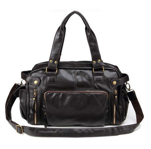 Vintage Style Leather Gym Bag
