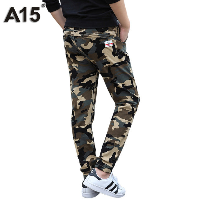 7652347a A15 Camouflage Pants Kids Boys Pants Cotton Long Teenage Boys Clothing Camo  Pants Kids Trousers 2017 Big Size 8 10 12 14 16 Year