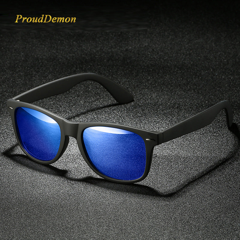 acd76ed0f5 Retro vantage Unisex Square Polarized Sunglasses Men Driving Mirrors  Coating Points Black Frame Male Sun Glasses