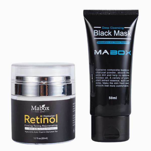 Mabox Retinol 2.5% Moisturizer Face Cream + Blackhead Removal Mask