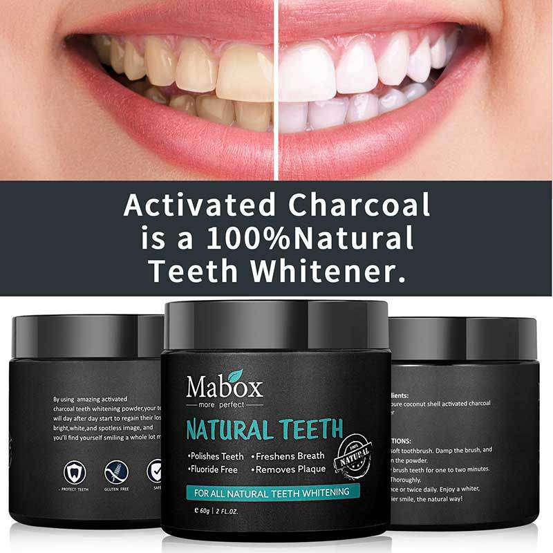 Mabox Charcoal Activated Teeth Whitener Mabox Cosmetics
