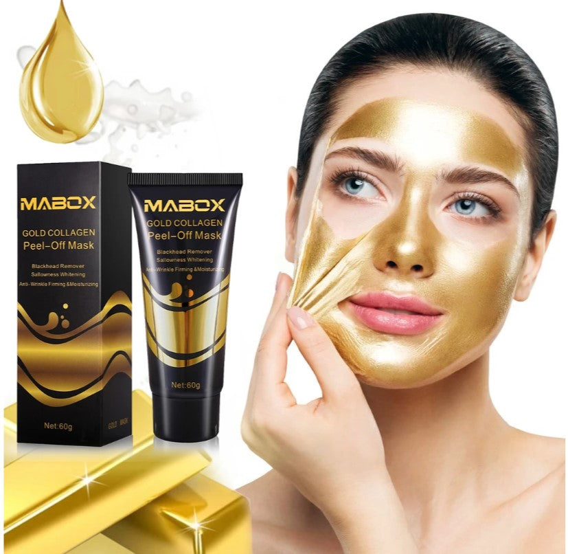 Mabox Pure 24K Mabox Gold Collagen Peel Off Facial Mask Blackhead Removal Anti Aging Wrinkle