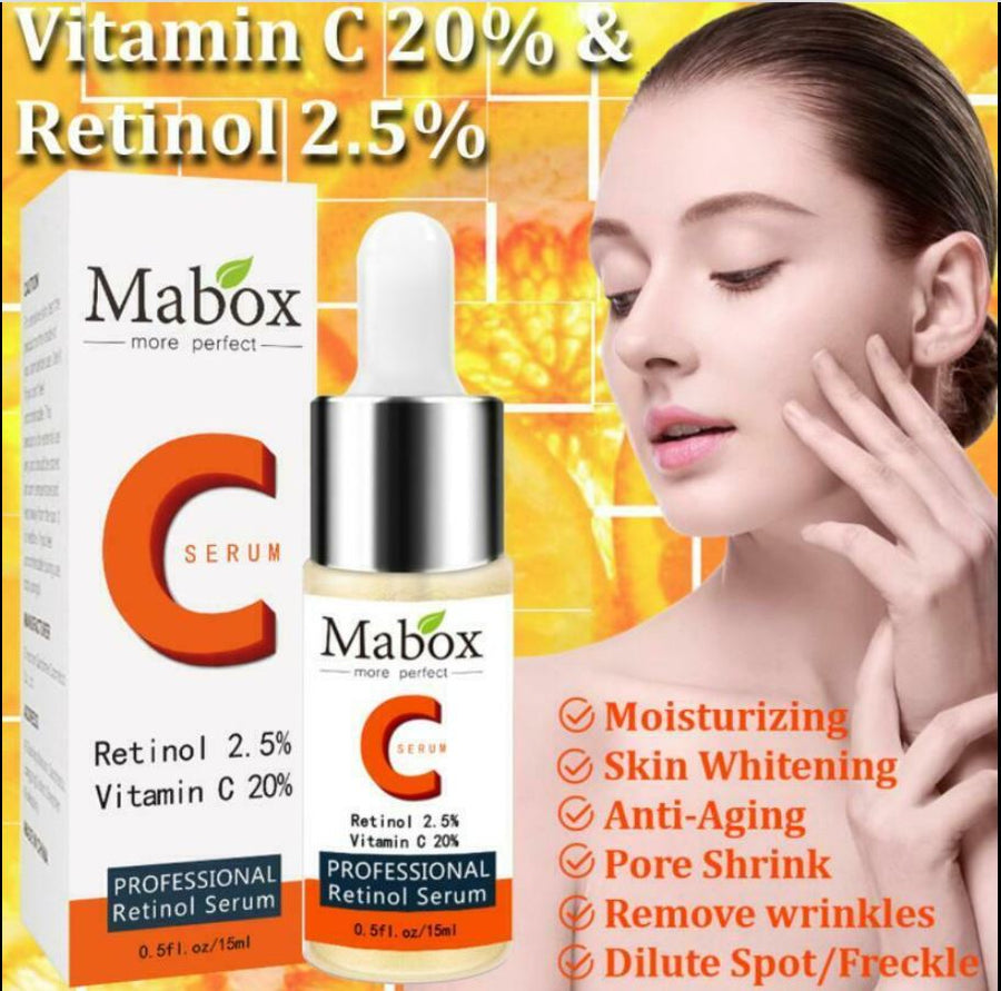 (Not Active) Mabox Facial Serum Skin Care Set:  Vitamin C&E, Hyaluronic Acid and 24K Gold