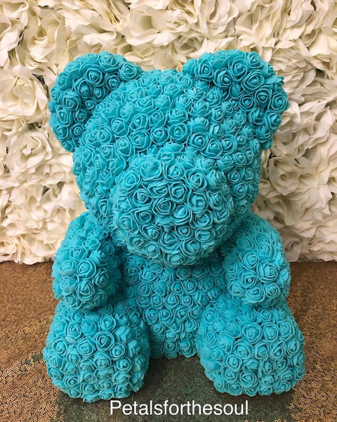 Mommy/Daddy Sitting Forever Rose Bear | Teddy Bear Made of Roses | Engagement Gift | Birthday Gift | Get Well Gift | Newborn Gift