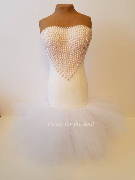 Bride Centerpiece | Mannequin | Princess Flower Dress | Dress Form | Rhinestone | Bridal Shower Decor | Wedding Decor