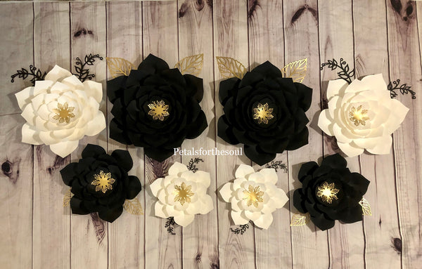 Set of 8 Piece Paper Flower | Nursery Decor | Wall Decor | Birthday Party Decor | Bridal Shower Decor | Wedding Decor| Backdrop
